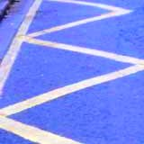 Typical school zig-zag markings