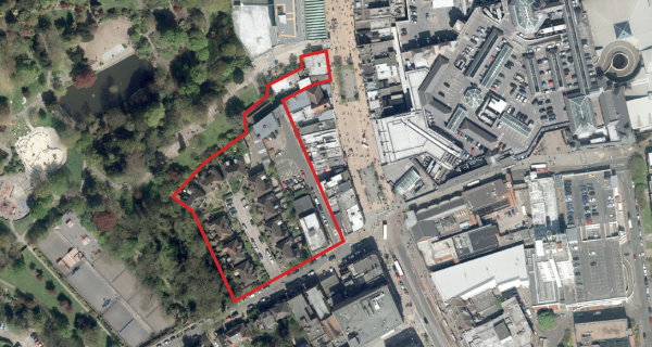Aerial site view - Churchill Gardens-600x320